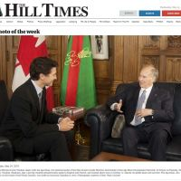 The Hill Times Photo of the Week features Canadian Prime Minister Justin Trudeau with His Highness Prince Karim Aga Khan