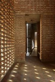 Built in brick. Aga Khan Award for Architecture 2016 Winner: Bait ur Rouf Mosque Dhaka, Bangladesh