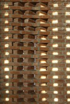 Detailed view of the brick jali. Aga Khan Award for Architecture 2016 Winner: Bait ur Rouf Mosque Dhaka, Bangladesh