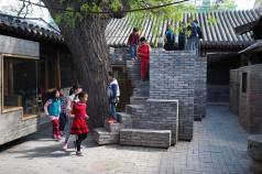 Trail of brick stairs. Aga Khan Award for Architecture 2016 Winner: Hutong Children's Library and Art Centre Beijing, China