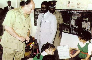 At Aga Khan School, Kisumu, Kenya, 1991.