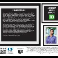 Kiana Rawji receives the prestigious Cadillac Fairview Youth of Distinction Award (YODA)