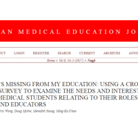 Alim Nagji: Using a cross sectional survey to examine the needs and interest of Canadian medical students relating to their roles as teachers and educator