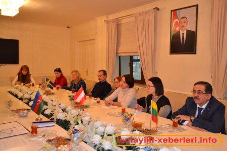 Rayon İcra Hakimiyyətində xarici qonaqlar qəbul olunub