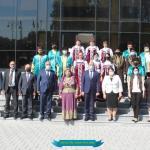 """""""Xarıbülbül"""" musiqi festivalında iştirak edən folklor kollektivləri ilə görüş keçirilib"""