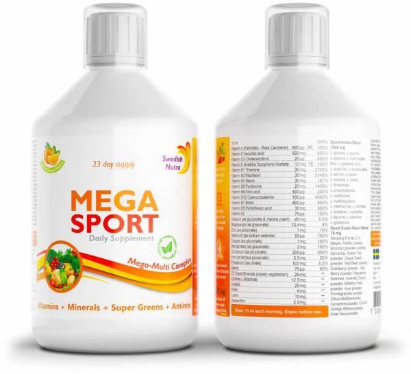 Aminohapped ja BCAA mega sport vitamiinijook