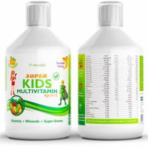 Vitamiinid lastele - auhinnatud Swedish Nutra laste vitamiinid