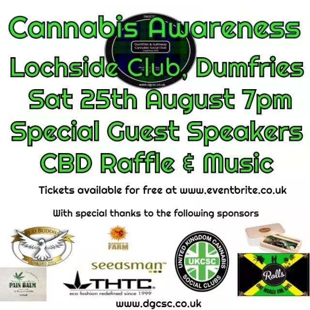, Dumfries & Galloway Cannabis Awareness Event August 2018, ISMOKE