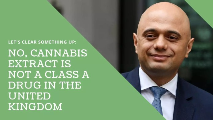 , Clearing up the myth that cannabis extract is a Class A drug in the United Kingdom