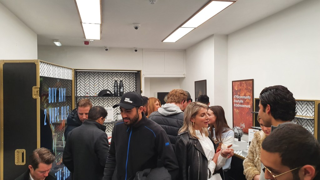 leefy, Taking a trip to the Leefy Pop up CBD Shop in London's West End