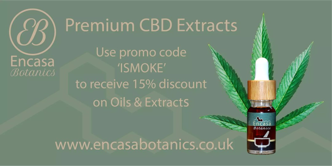 Encasa Botanics Premium CBD Oil extracted from White Widow CBD Flowers