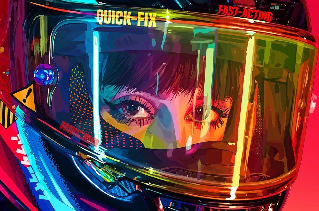 Mad Dog Jones, el artista de Instagram que crea paisajes salidos de un animé cyberpunk apocalíptico