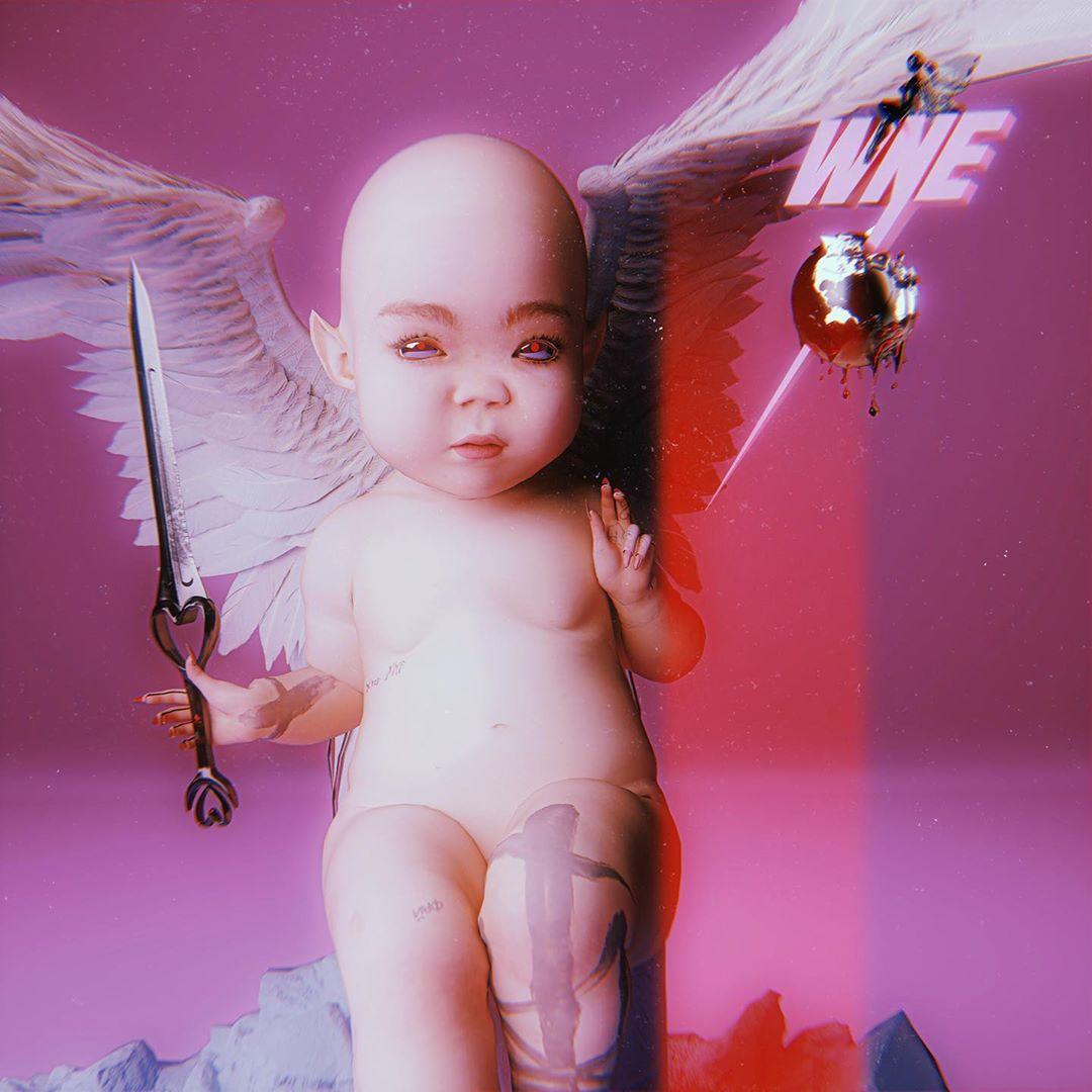 Grimes creó los perfiles de redes sociales de su próximo bebé, WarNymph