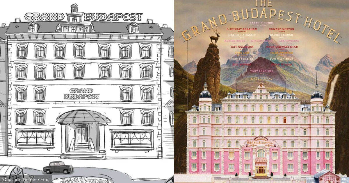 """Wes Anderson comparte los storyboards animados de su filme """"The Grand Budapest Hotel"""""""