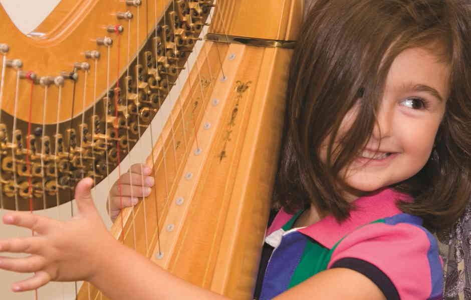 Harp Instruction at International School of Music in Potomac and Chevy Chase