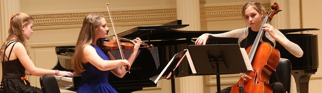 Bethesda Students from teh International School of Music performing at Carnegie Hall