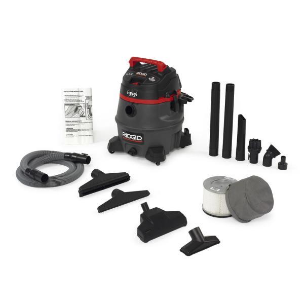 Ridgid 50368 14 Gallon Hepa-certified Wet Dry Vac Rv2400hf - Iso-ce