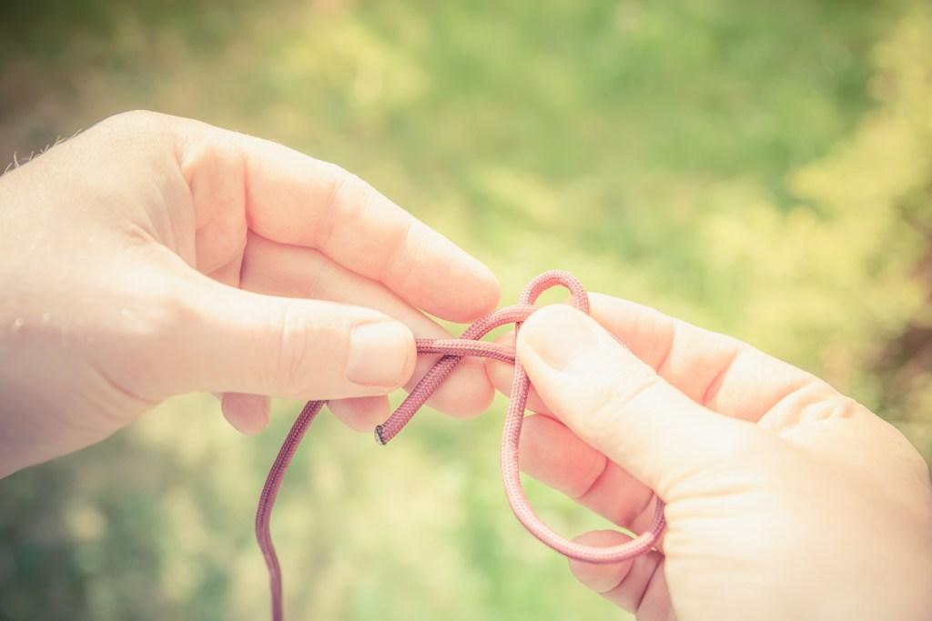 Der Palstek ist ein wichtiger Knoten für feste Schlaufen