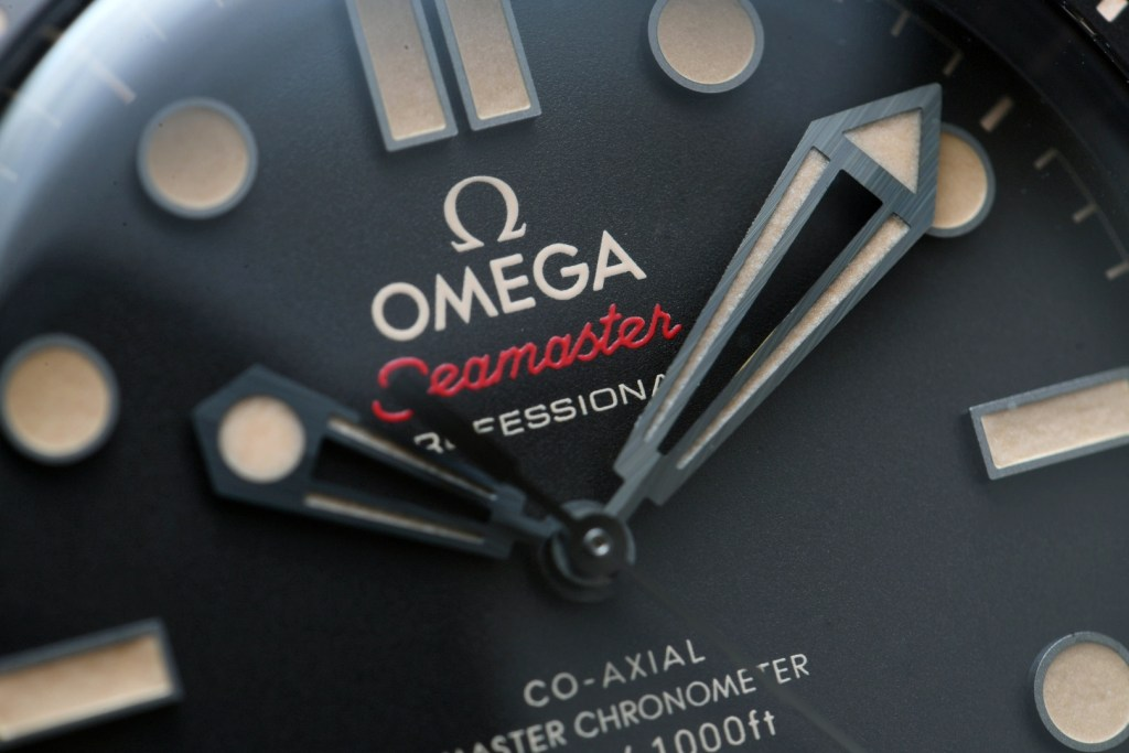 """Omega Seamaster 300M """"No Time To Die"""" Edition close up macros"""