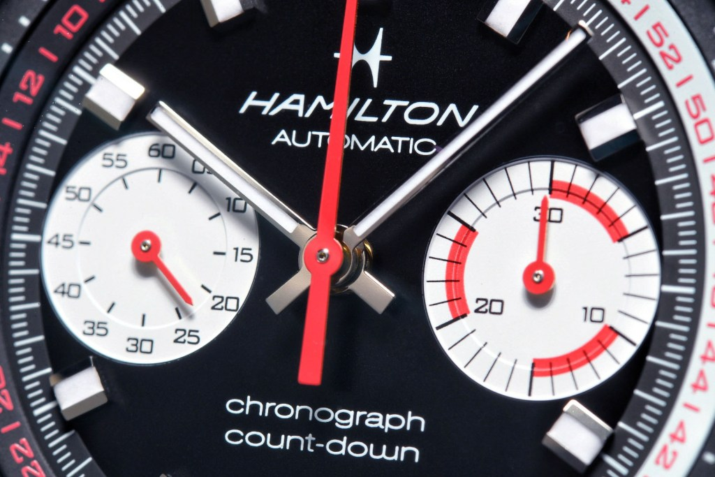 Close up Hamilton Chrono-Matic 50 Auto Chrono