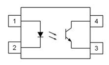 TLP181 Transistor Output, 4 pin, SMD Optocoupler