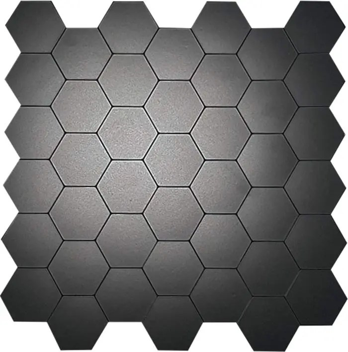 Zwart hexagon tegel