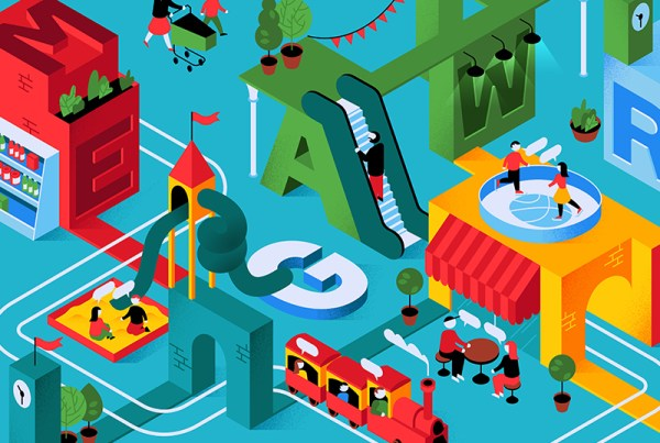 Isometric design colorful