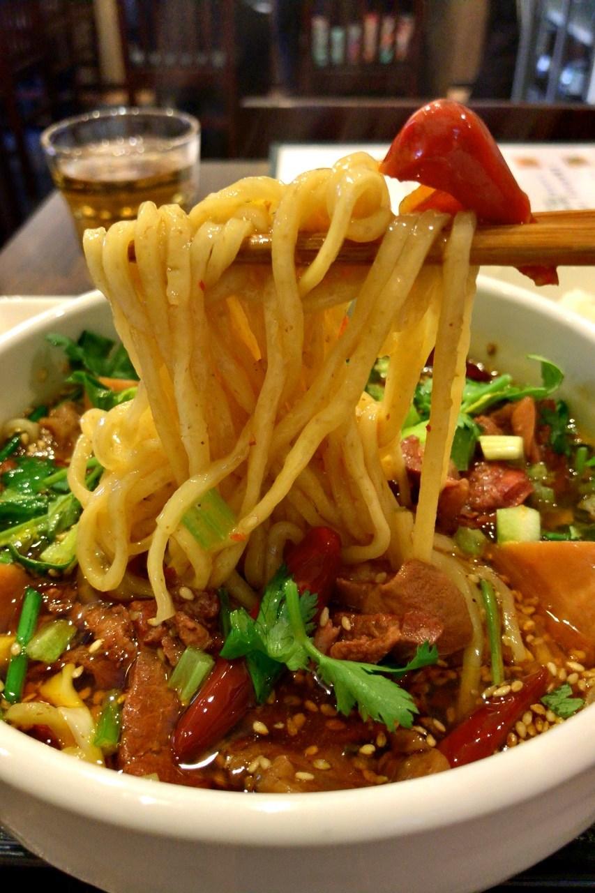 牛すじ肉辛味麺