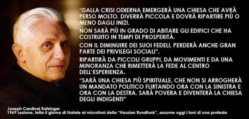 tarjeta. Ratzinger