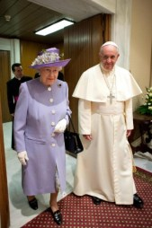 Pope Francis and queen elizabeth
