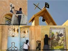 Islam destrucción violenta de las iglesias en Mosul