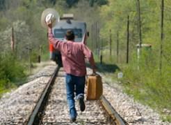 persiguiendo el tren