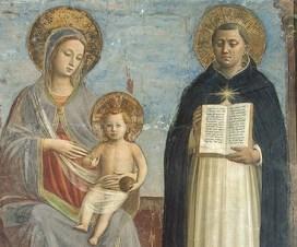 Thomas von Aquin Fresko des Allerheiligsten Angelic