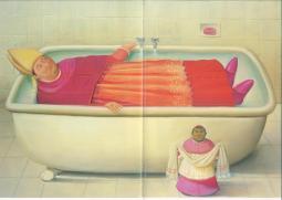 botero prete  - il bagno del Vaticano