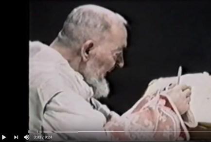 Padre Pio celebrated mass