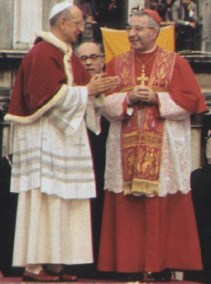 Paulo VI com o cardeal Luciani