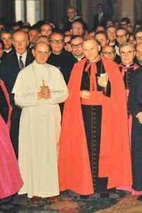Paul VI with Carinale Woytila