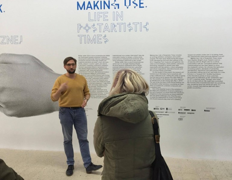 """Making Use"", introduction by Kuba Szreder, with Edith Poirier."