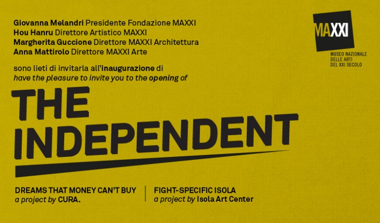 The Independent, flyer MAXXI, Roma.