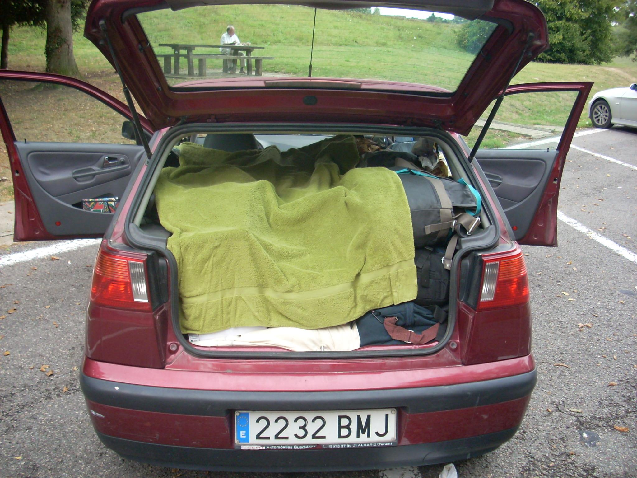 I la càrrega del cotxe...