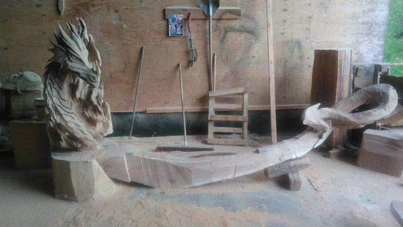 90-4 | Удивительные работы Игоря Лоскутова. А вы бы хотели присесть на такую скамью?