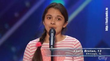 Лаура Бретан - девочка с выдающимся оперным голосом!