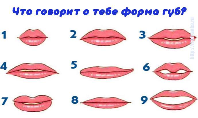 форма-губ   Что может сказать о вас форма ваших губ?