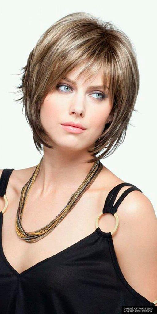 1-62 | Модные прически на короткие волосы и волосы средней длины