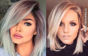 Градуированные каре для коротких и средних волос: 30 вариантов