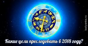 Какие цели преследовать различным знакам зодиака в 2018 году?