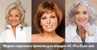 Модные стрижки и прически для женщин 40, 50 и более лет