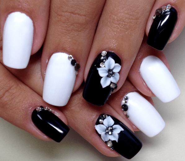 image26-1 | Черно-белая классика: идеи маникюра для элегантных девушек