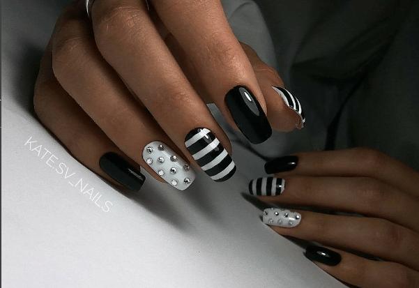 image30 | Черно-белая классика: идеи маникюра для элегантных девушек