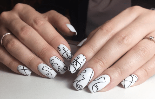 image32 | Черно-белая классика: идеи маникюра для элегантных девушек